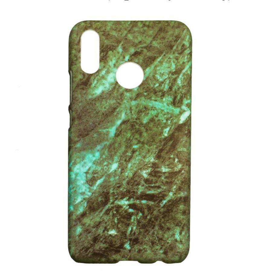 Huawei P20 Lite Marmer telefoonhoesje - groen-1