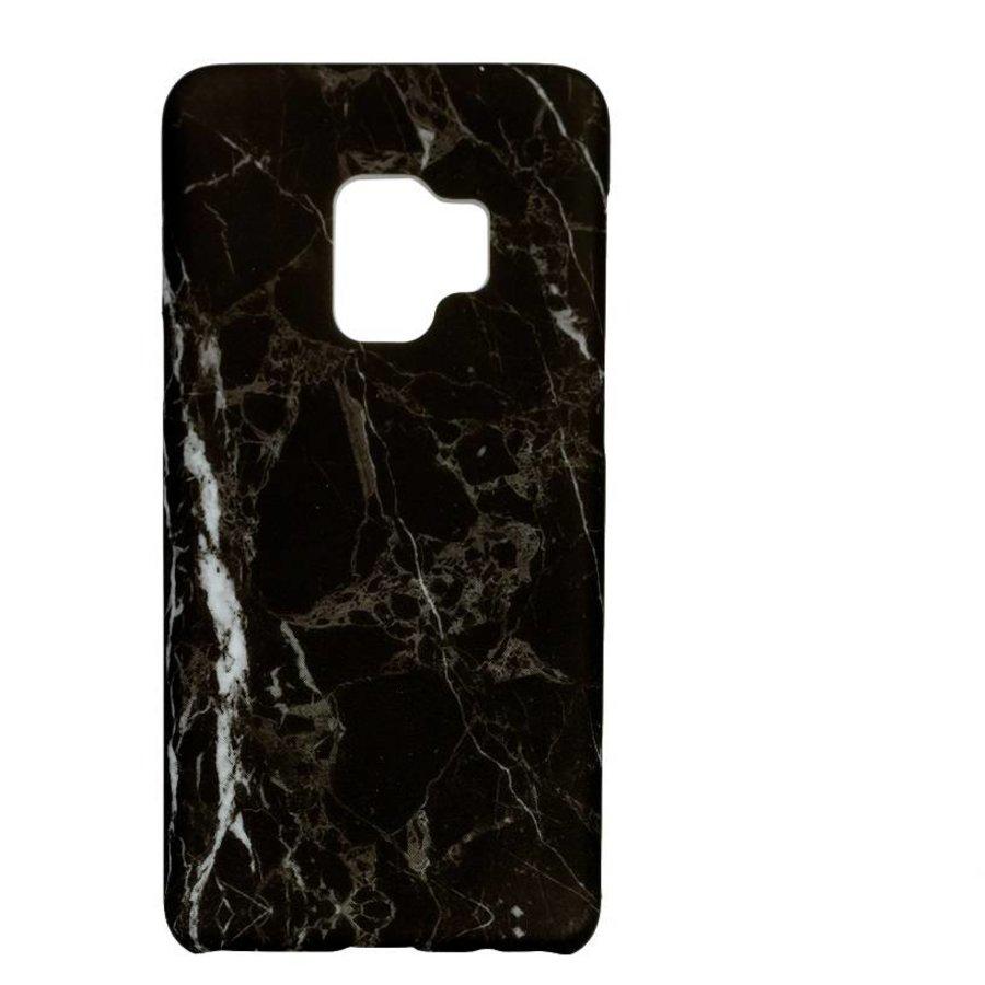 Samsung S9 Marmer telefoonhoesje - Zwart-1