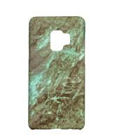 Samsung S9 Marmer telefoonhoesje - Groen
