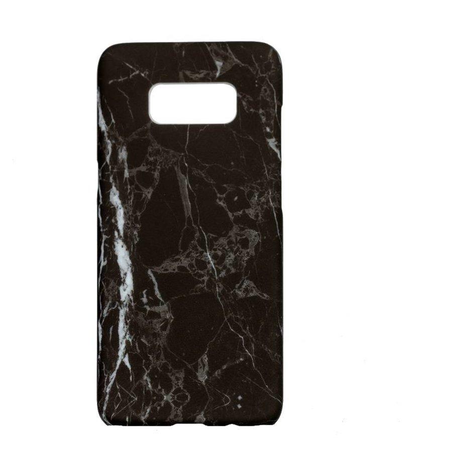 Samsung S8 Marmer telefoonhoesje - Zwart-1