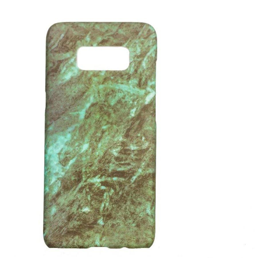Samsung S8 Marmer telefoonhoesje - Groen-1