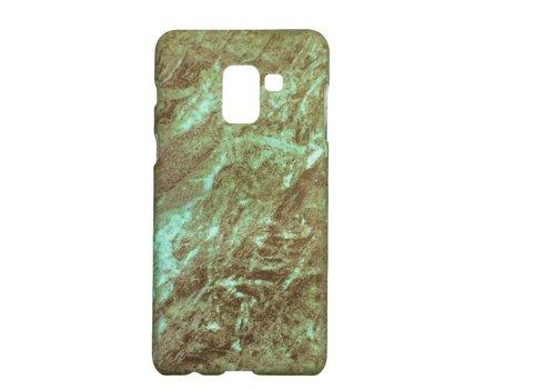 Samsung A8 Marmer telefoonhoesje - Groen