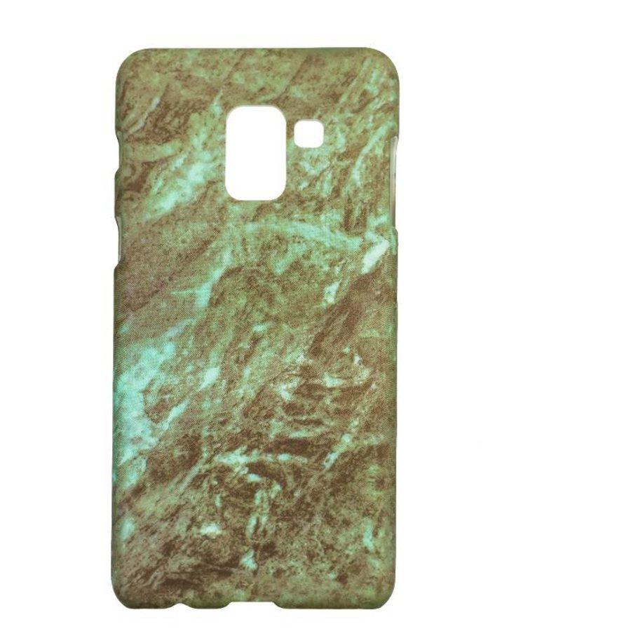 Samsung A8 Marmer telefoonhoesje - Groen-1