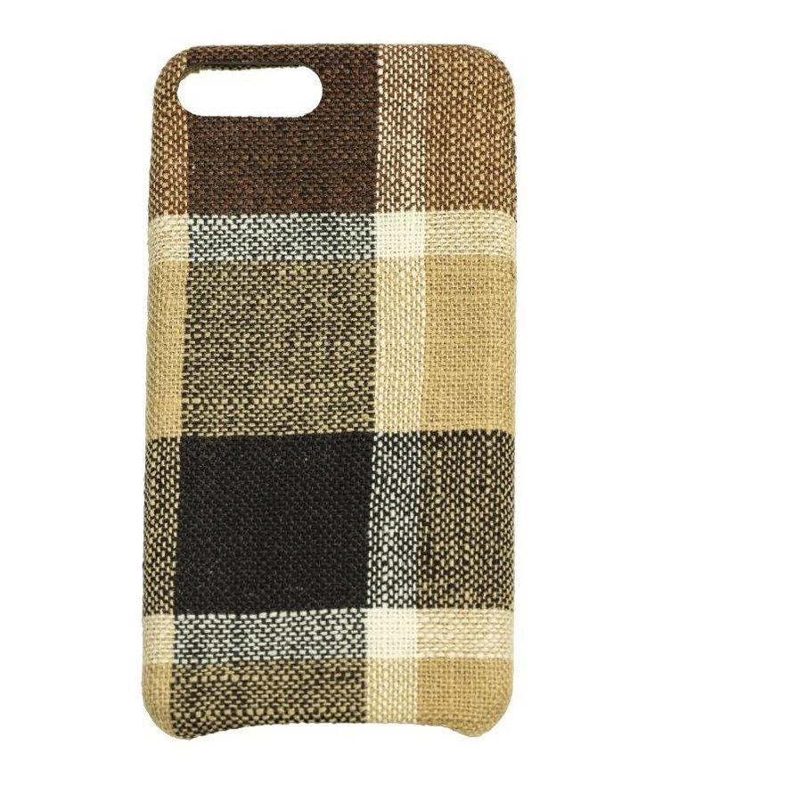 Apple Iphone 8 Plus Vintage telefoonhoesje - Bruin-1