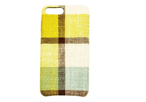 Apple Iphone 8 Plus Vintage telefoonhoesje - Geel