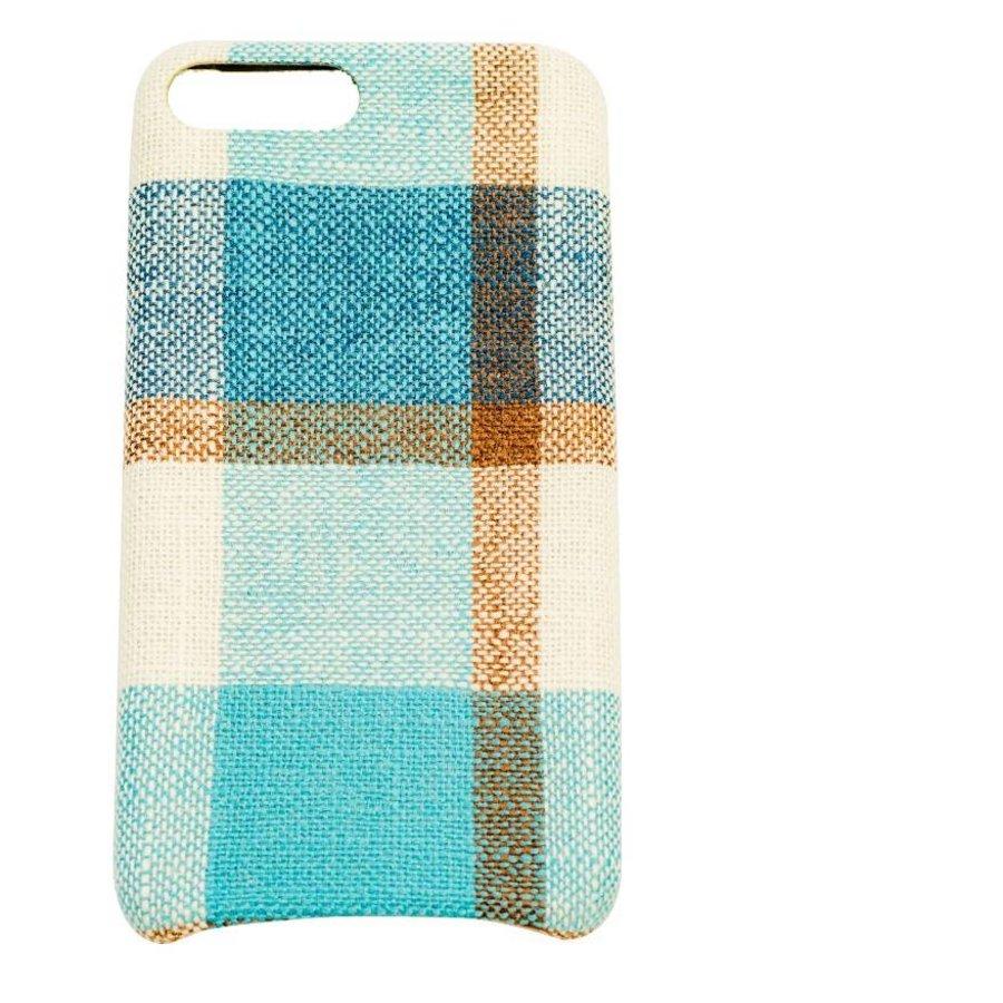 Apple Iphone 8 Plus Vintage telefoonhoesje - Blauw-1