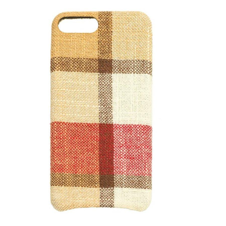 Apple Iphone 8 Plus Vintage telefoonhoesje - Rood-1