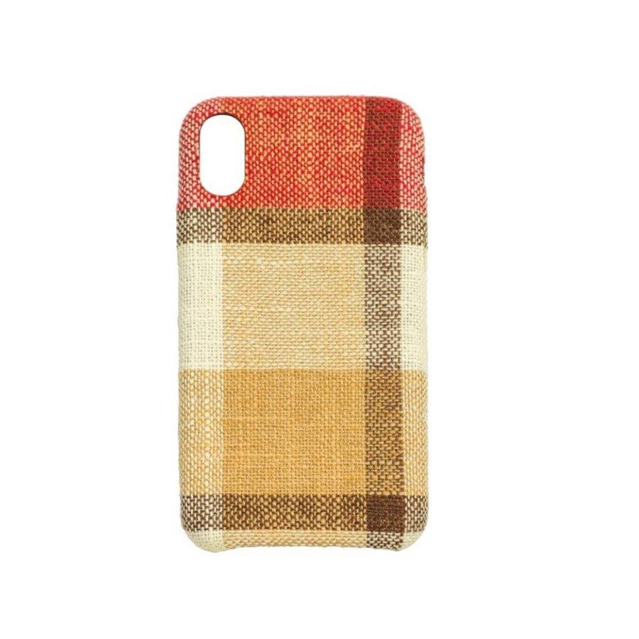 Apple Iphone X Vintage telefoonhoesje - Rood-1