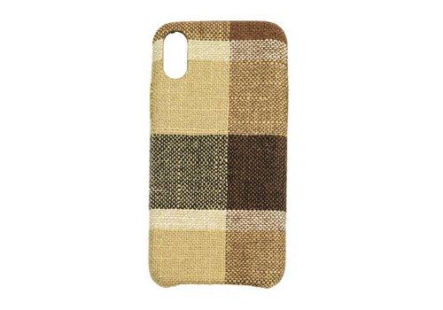 Apple Iphone XS Vintage telefoonhoesje - Bruin