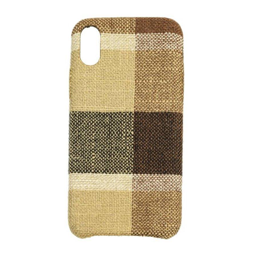 Apple Iphone XS Vintage telefoonhoesje - Bruin-1
