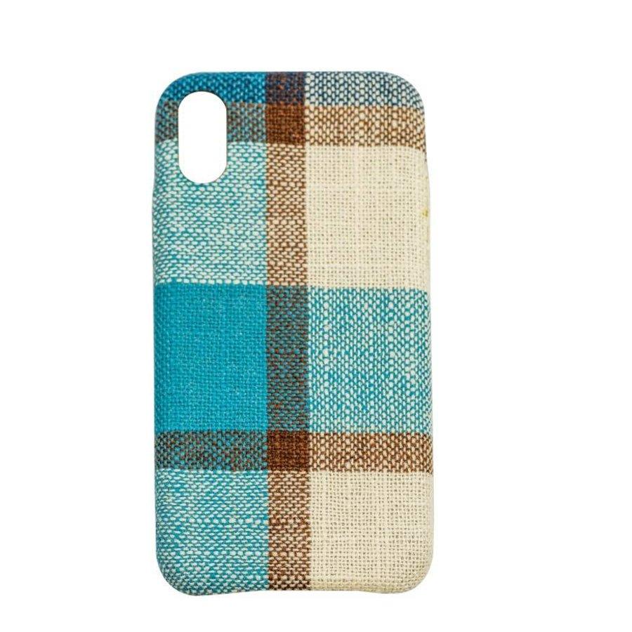 Apple Iphone XS Max Vintage telefoonhoesje - Blauw-1