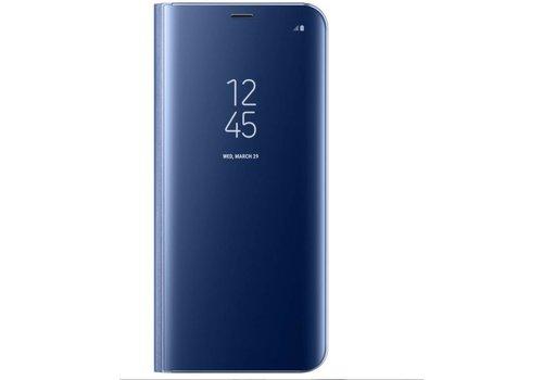 Samsung S8 Mirror flip telefoonhoesje - Blauw