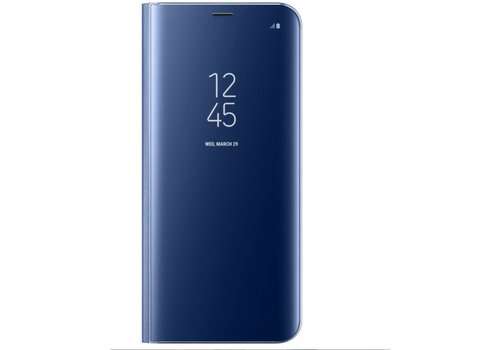 Samsung A8 Mirror flip telefoonhoesje - Blauw