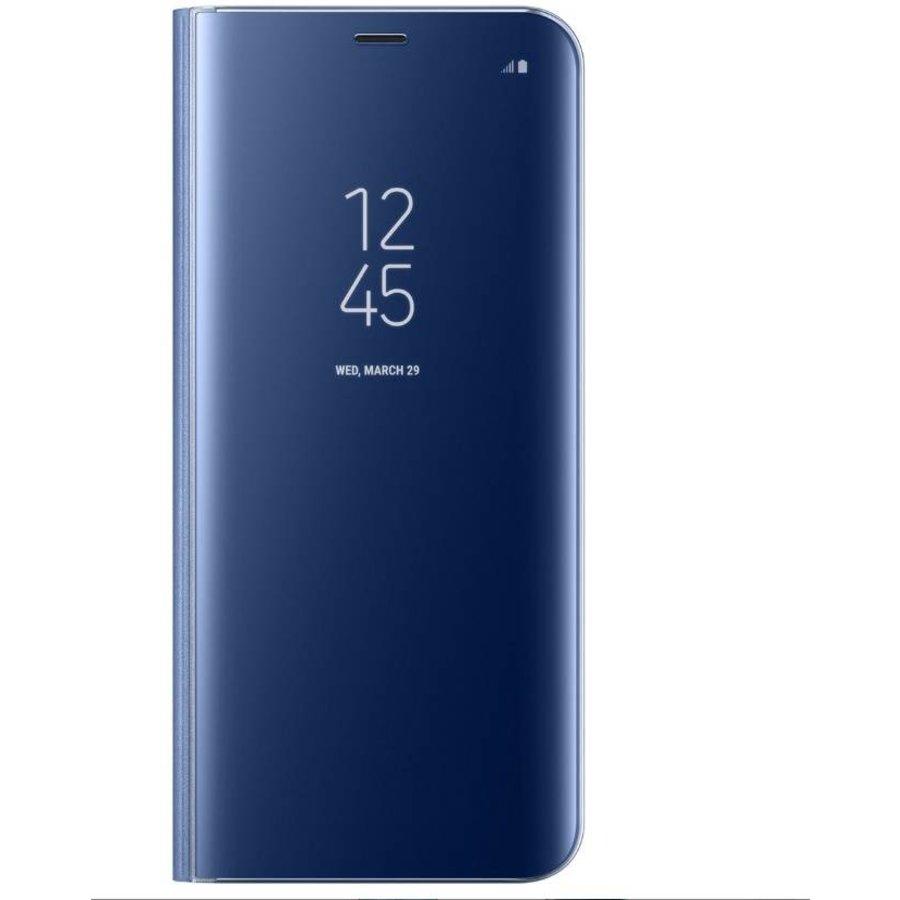 Samsung A8 Mirror flip telefoonhoesje - Blauw-1