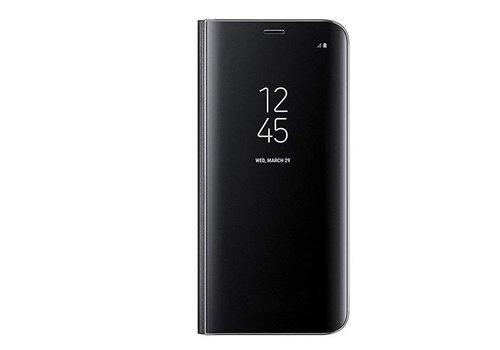 Samsung A8 Mirror flip telefoonhoesje - Zwart