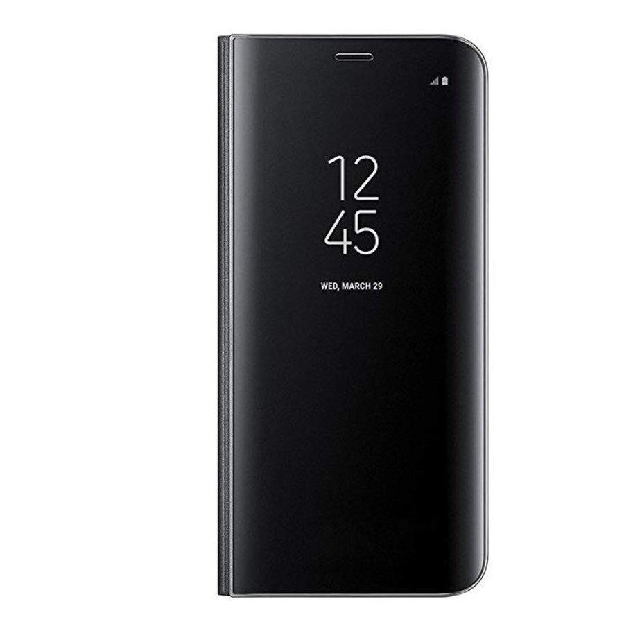 Samsung A8 Mirror flip telefoonhoesje - Zwart-1