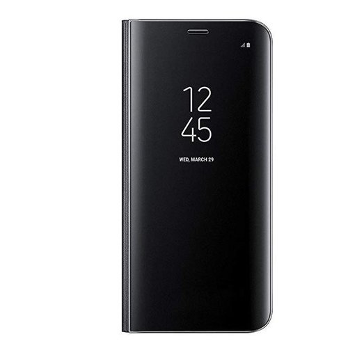 Samsung A7 Mirror flip telefoonhoesje - Zwart