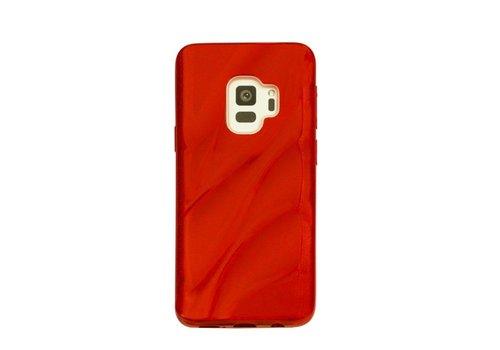 Samsung S9 Glitter wave telefoonhoesje - Rood