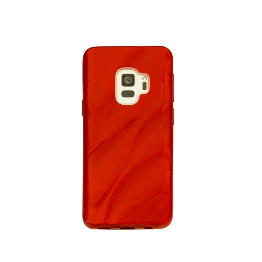 Samsung S9 Glitter wave telefoonhoesje - Rood-1