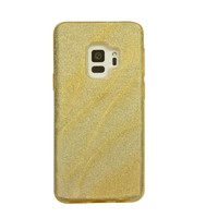 Samsung S9 Glitter wave telefoonhoesje - Goud