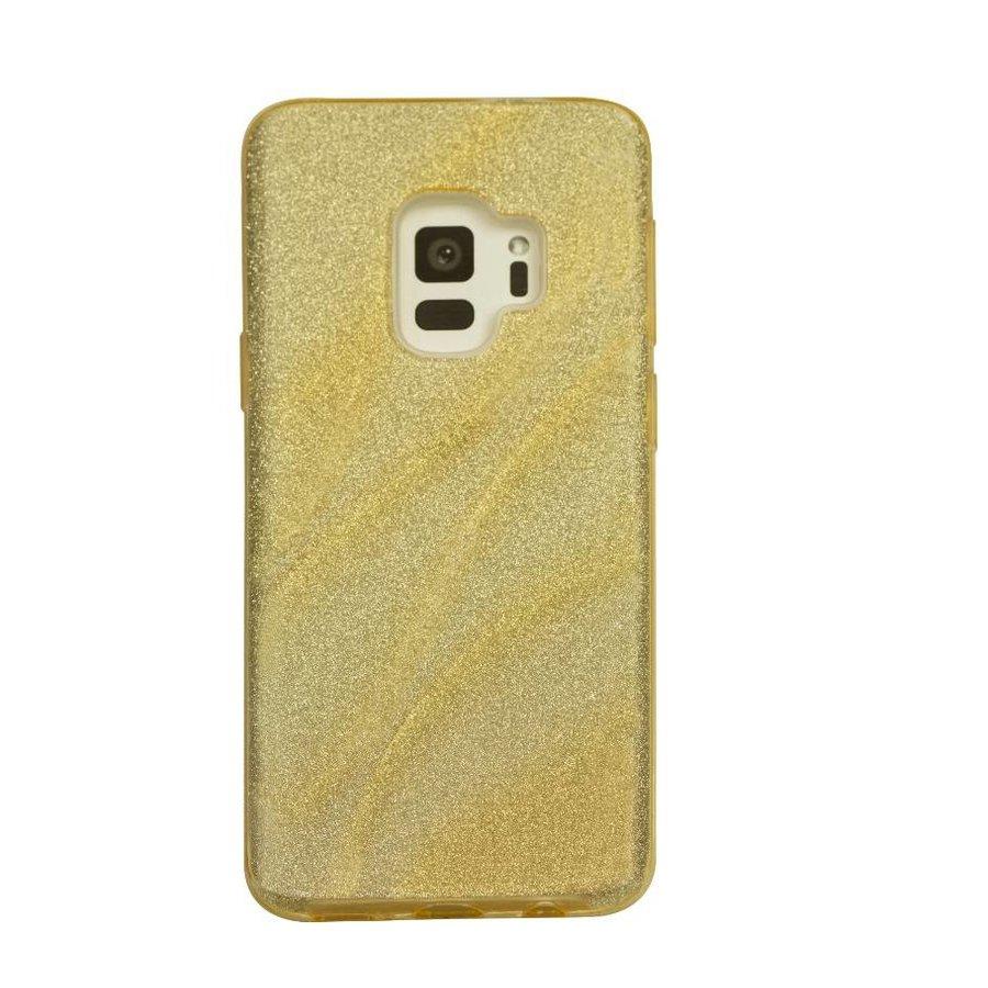 Samsung S9 Glitter wave telefoonhoesje - Goud-1