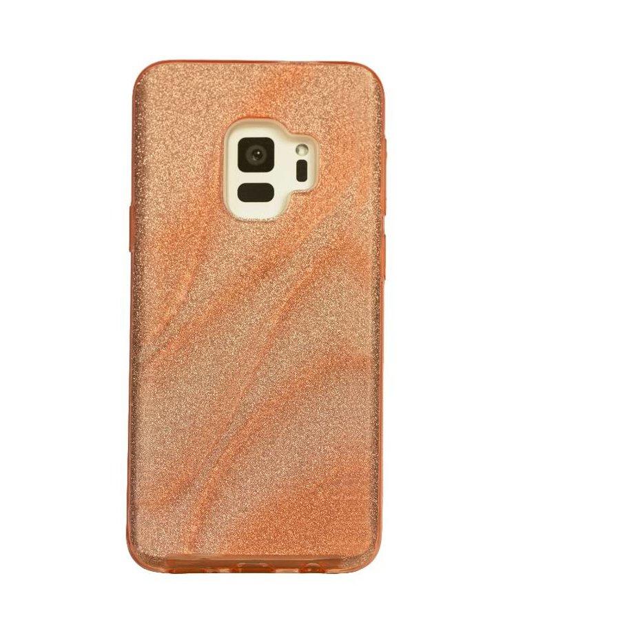 Samsung S9 Glitter wave telefoonhoesje - Roze-1