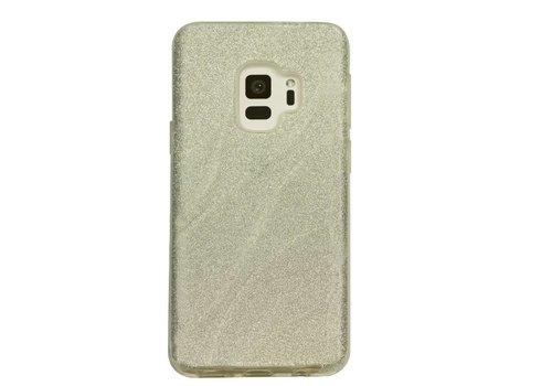 Samsung S9 Glitter wave telefoonhoesje - Wit