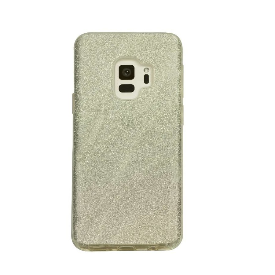 Samsung S9 Glitter wave telefoonhoesje - Wit-1