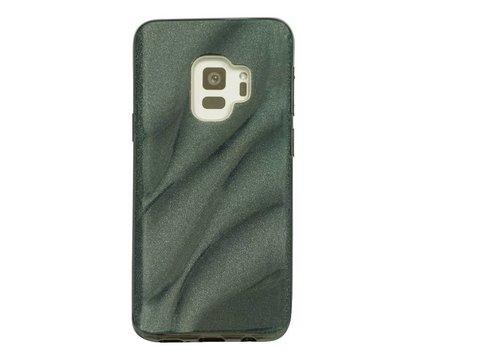 Samsung S9 Glitter wave telefoonhoesje - Zwart