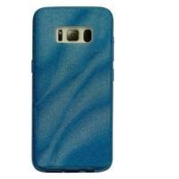 Samsung S8 Glitter wave telefoonhoesje - Blauw