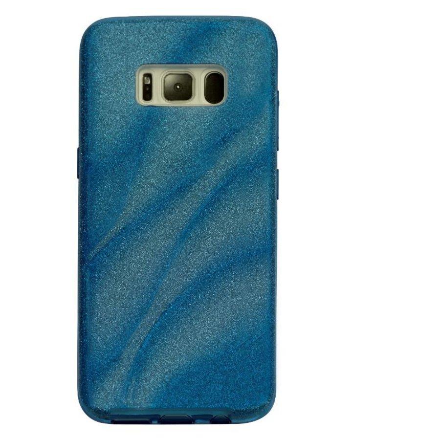 Samsung S8 Glitter wave telefoonhoesje - Blauw-1