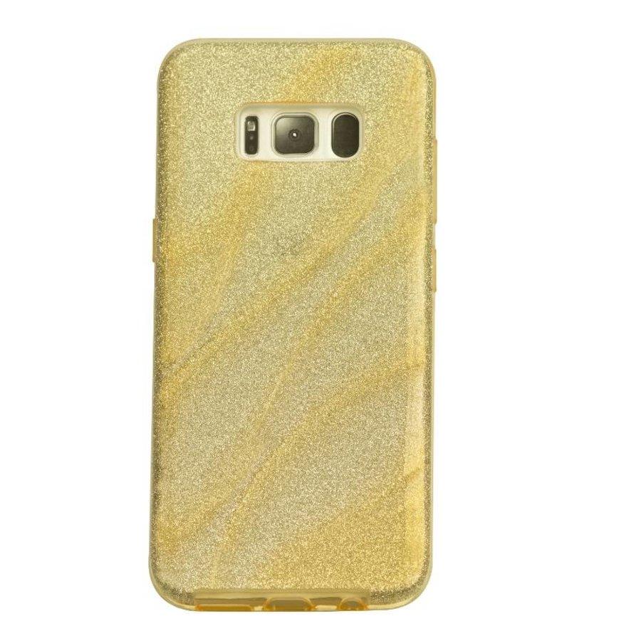 Samsung S8 Glitter wave telefoonhoesje - Goud-1