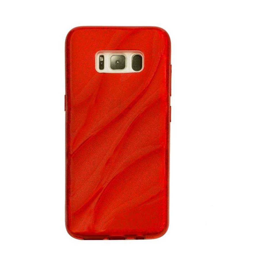 Samsung S8 Glitter wave telefoonhoesje - Rood-1