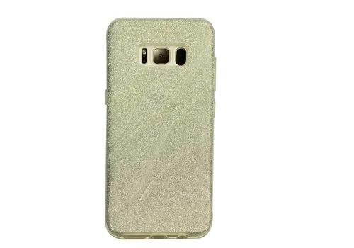 Samsung S8 Glitter wave telefoonhoesje - Zilver
