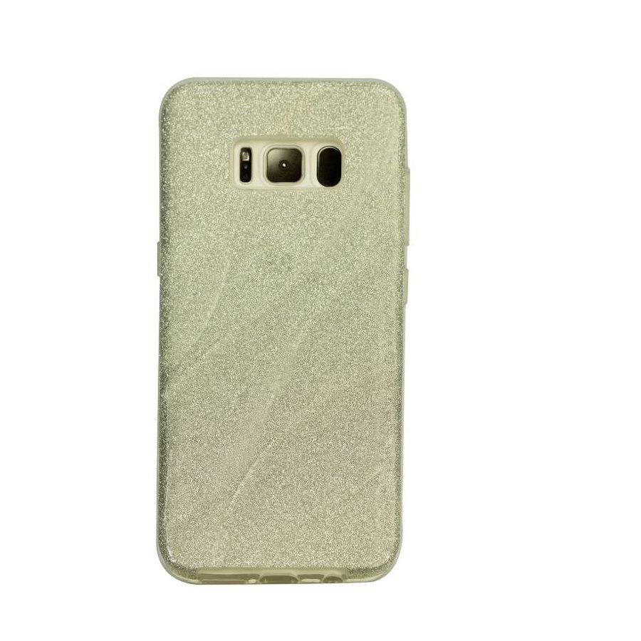 Samsung S8 Glitter wave telefoonhoesje - Zilver-1