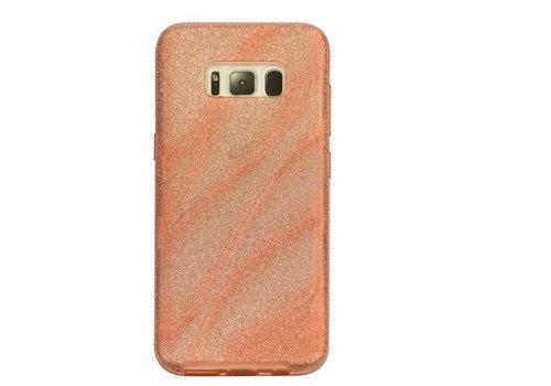 Samsung S8 Glitter wave telefoonhoesje - Roze