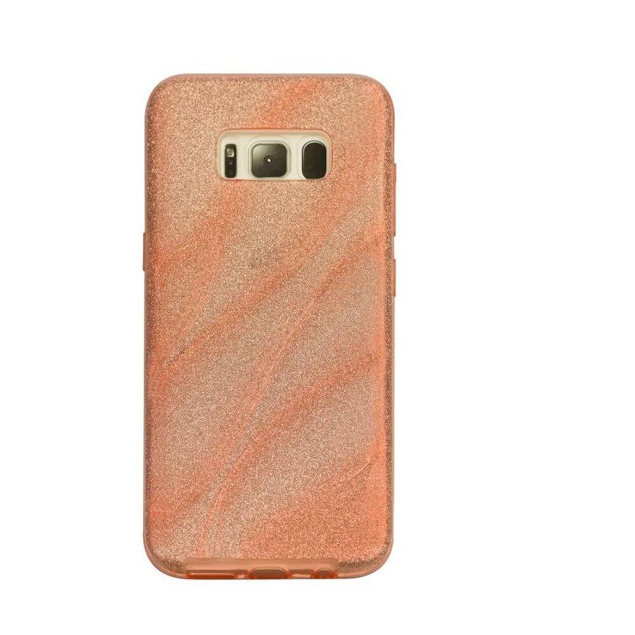 Samsung S8 Glitter wave telefoonhoesje - Roze-1