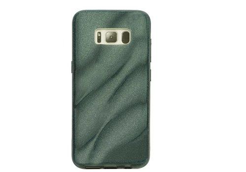 Samsung S8 Glitter wave telefoonhoesje - Zwart