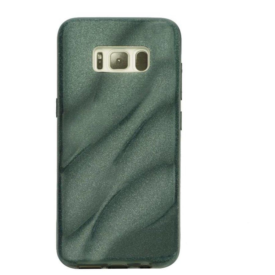 Samsung S8 Glitter wave telefoonhoesje - Zwart-1