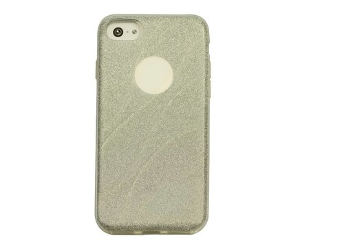 Apple Iphone 7 Glitter wave telefoonhoesje - Zilver