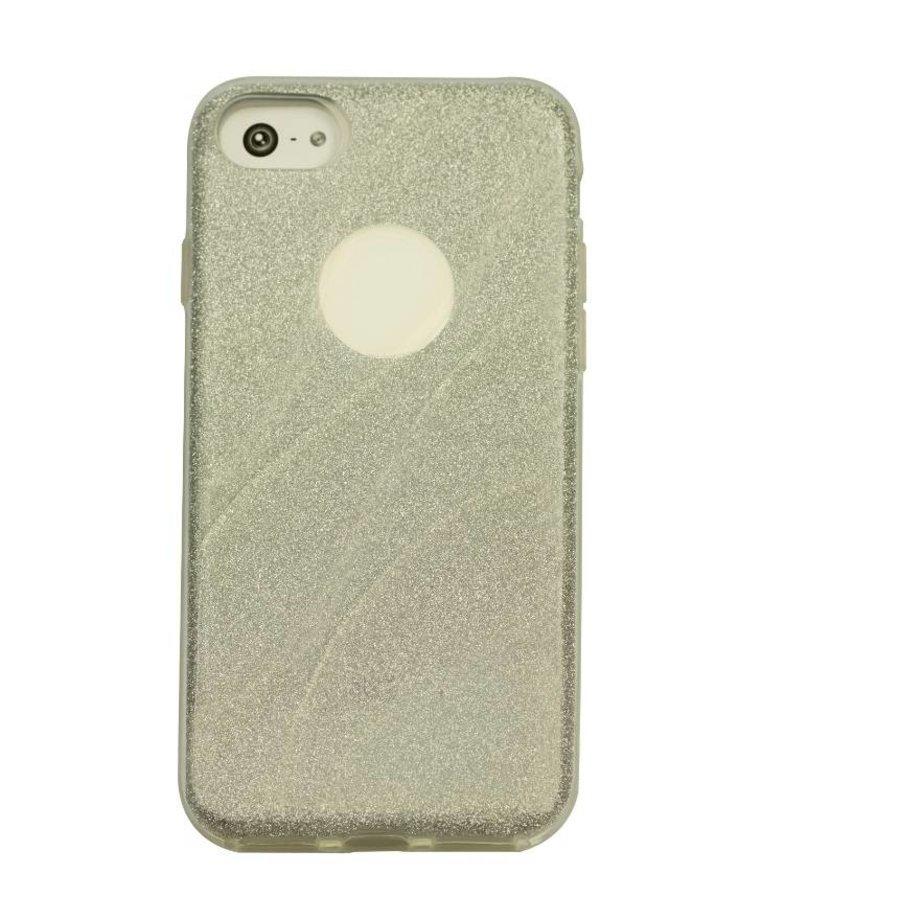 Apple Iphone 8 Glitter wave telefoonhoesje - Zilver-1