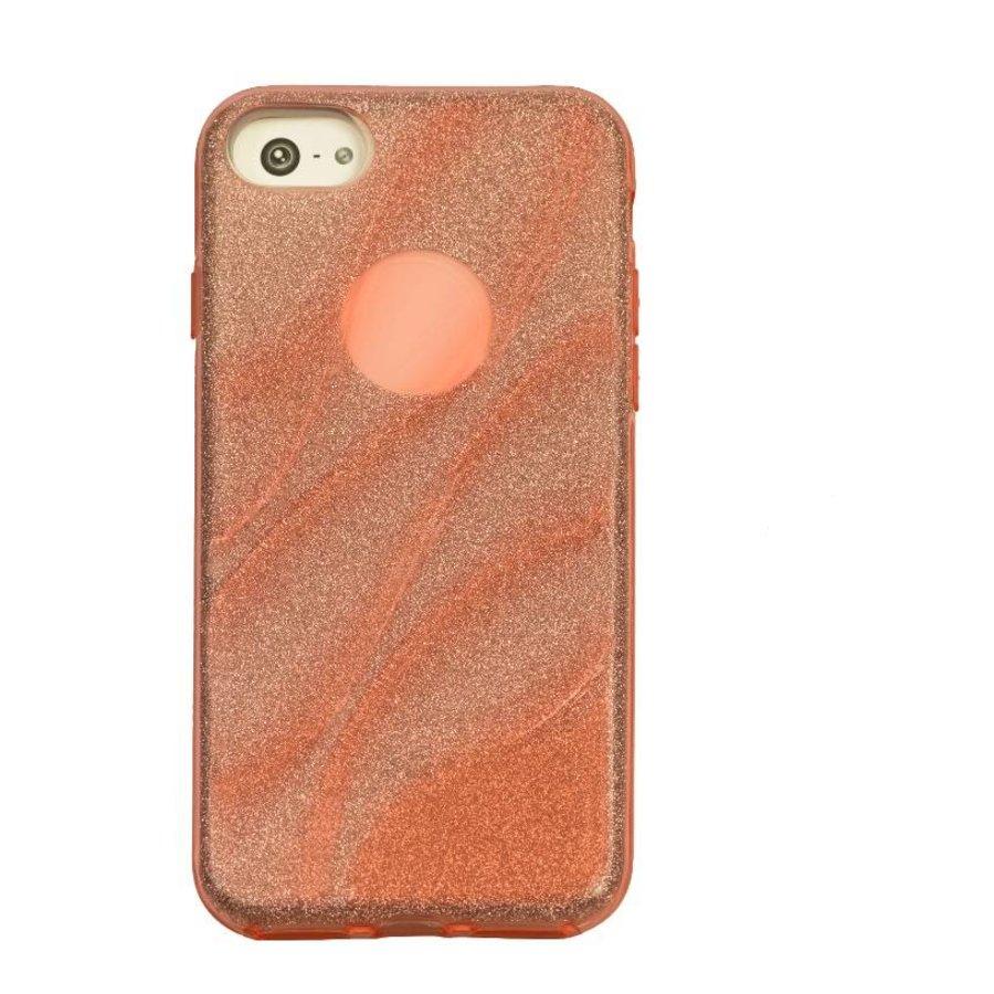 Apple Iphone 8 Glitter wave telefoonhoesje - Roze-1