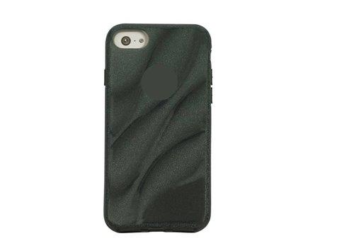 Apple Iphone 8 Glitter wave telefoonhoesje - Zwart