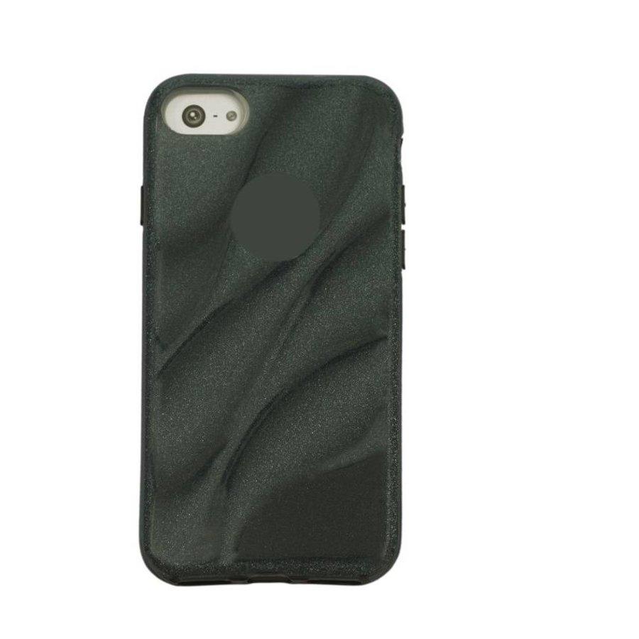 Apple Iphone 8 Glitter wave telefoonhoesje - Zwart-1