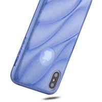 thumb-Apple Iphone X Glitter wave telefoonhoesje - Blauw-2