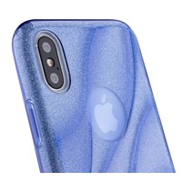 thumb-Apple Iphone X Glitter wave telefoonhoesje - Blauw-3