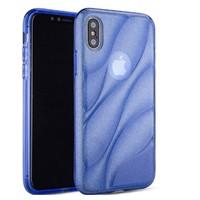 thumb-Apple Iphone XS Glitter wave telefoonhoesje - Blauw-1