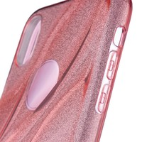 thumb-Apple Iphone XS Glitter wave telefoonhoesje - Roze-2