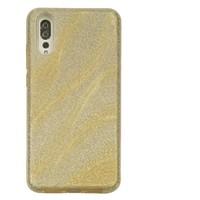 Huawei P20 Glitter wave telefoonhoesje - Goud
