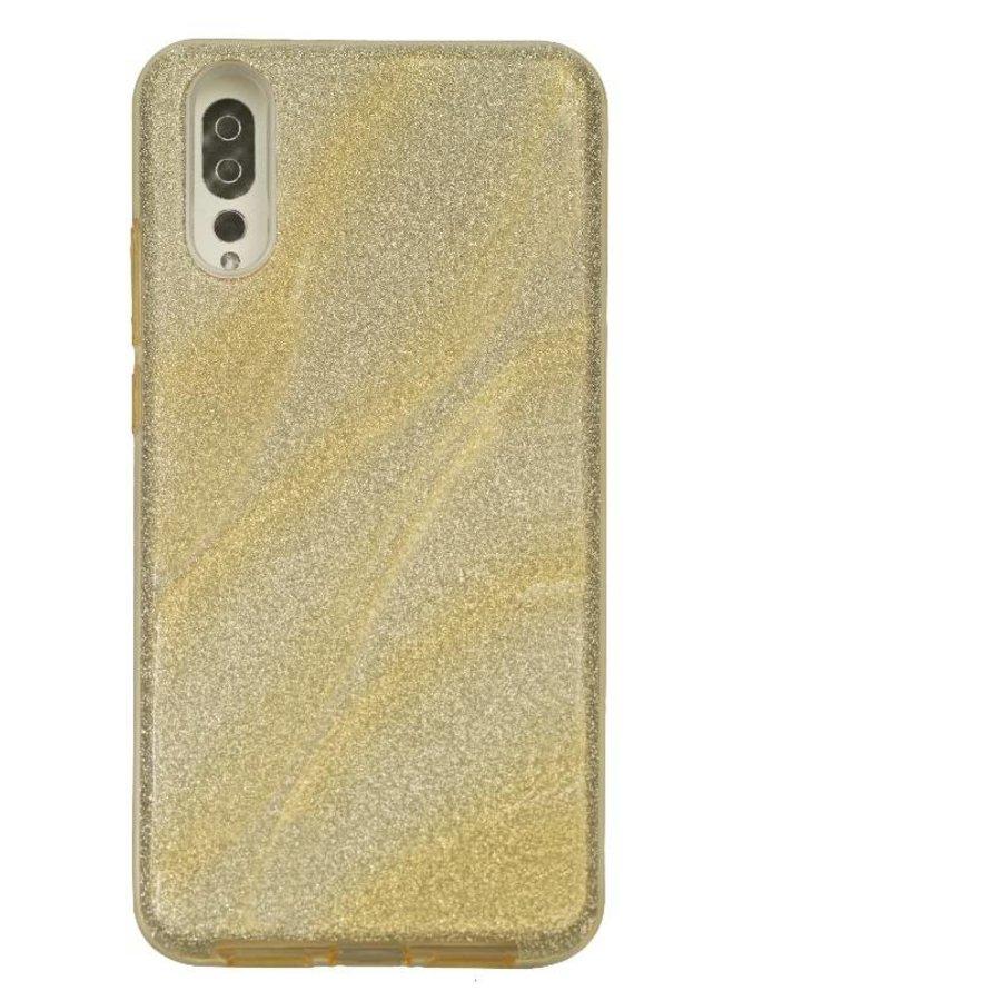 Huawei P20 Glitter wave telefoonhoesje - Goud-1